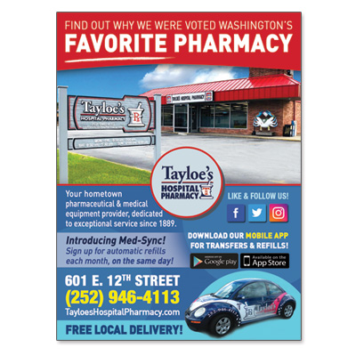 Tayloe's Hospital Pharmacy – Print Ad